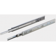 Ebco Sleek Telescopic Drawer Slides - (I) 35 200 MM Zinc Black STDS 20 (I) 35 /2 Pcs.