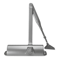 Ebco Door Closer with Hold Open Silver DC 301