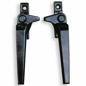 Ebco Window Handle Low Silver AWH 9 (L/R)