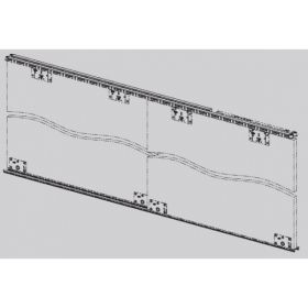 Ebco Al. profile track for hi slide 50(set of top & bottom tracks in 2.44m) Silver HS50-T2