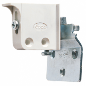 Ebco Wall Plate For Adjustable Corner Bracket Zinc Plated White ACB - W1 /100 Sets.