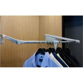 Ebco Wardrobe Lift Side Mount - 10 Soft Grey Cabinet Width 800-1200 mm P-WLSM-10S