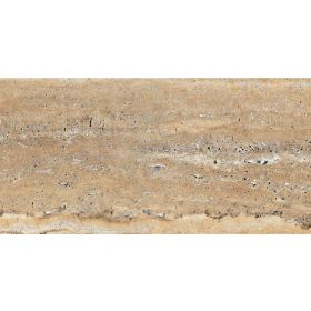 Kajaria Royal Travertine Gold Ceramic Floor Tiles - 300 x 300 mm