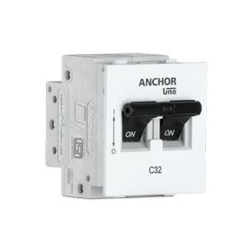 Anchor Roma Mini Modular 10A DP MCB 'C' Type - 98076