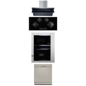 Hafele Teresa-90 90cm Wall Mounted Hood + Corona 490 Built-in Hobs + J32MWO Built-in Microwave + J70Bio Built-in Oven + AXLE 12