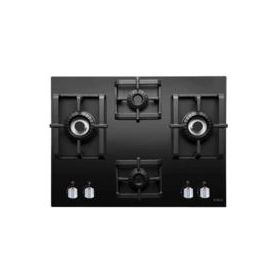 Elica PRO MFC 4B 91 DX SWIRL Black Glass Built-in Hob