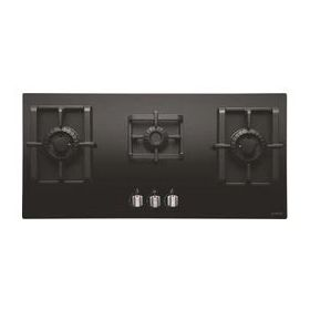 Elica PRO MFC 3 B 90 DX SWIRL Black Glass Built-in Hob