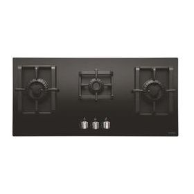 Elica PRO MFC 5B 90 SWIRL Black Glass Built-in Hob