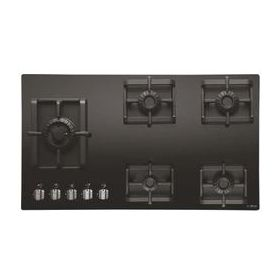 Elica PRO MFC 5B 91 SWIRL Black Glass Built-in Hob