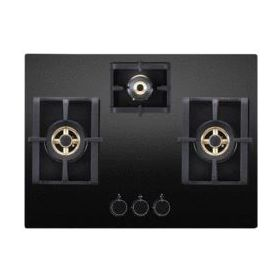 Elica PRO FB MFC 3B 70 DX FFD Black Glass Built-in Hob