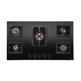 Elica PRO FB MFC 5B 90 MT FFD Black Glass Built-in Hob